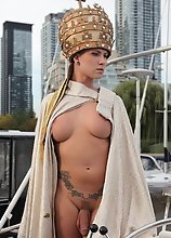 Naked holy hotness Danni spreads