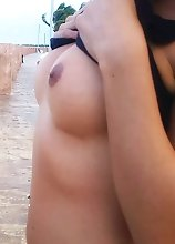 Mexican Tranny flashing in Cancun