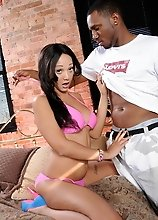 Hot Sunshyne rides a big black cock